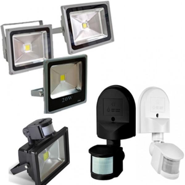 Светодиодные прожекторы и датчики движения